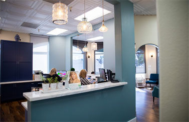reception counter of scripps west dental